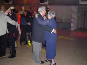 My parents dancing at a cousin's wedding in Israel.