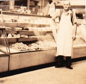 Grandpa in his bakery in West New York, New Jersey, 1942.