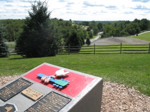 The view from the Hurd Road Woodstock Monument. Looking toward West Shore Road.