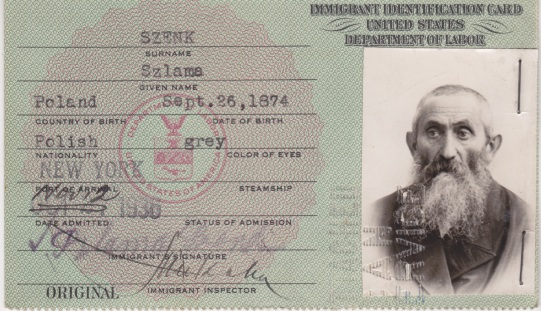 Front Great grandpa USA Visa