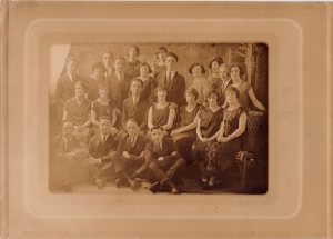 Grandma Thelma graduation from night school she is second in middle row