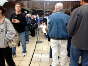 2012 election, a long line to vote!