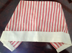 My actual Candy Striper Hat from the early 1970s.  I had to wear it at the hospital.