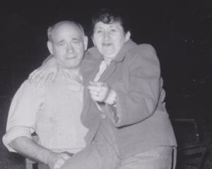 My Grandparents in the Catskills in July  around 1954. It was my Grandma's birthday.