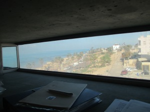 The view of Jaffa and the Sea from my daughter's office