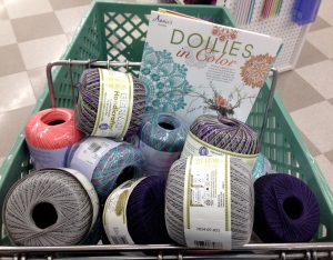 I filled my cart with new yarns!