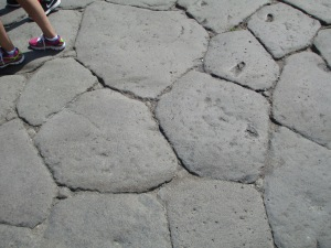 Pompeii stone streets... Pretty good actually.