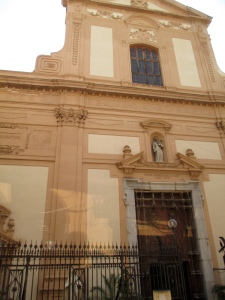 What was once the synagogue in Sicily, now a church.