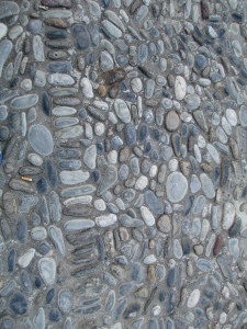 Monaco, beautiful patterned pebbles to walk on.