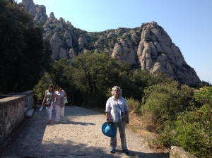 Notice the difficult walking through the trails at Montserrat.