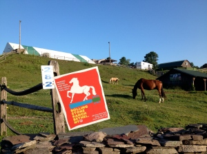 Even a stable uses a sign to remember Woodstock.