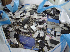 Phones recycled at a cousins's company in Israel.