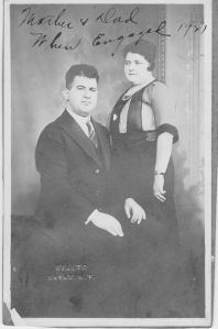 Grandpa Harry and Grandma Esther on their engagement in 1921.