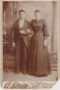 My Great Grandfather Louis and Great Grandmother Rae in 1894 around the time of their wedding.