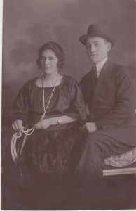 My grandmother's first cousin, Dora, and her husband.