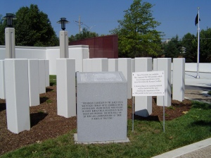 A portion of the Korean War Memorial in Kansas.