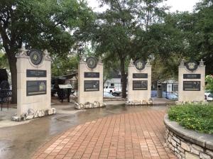 The walkway memorial to presidents.