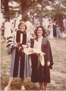 Joan Steiner and me graduation