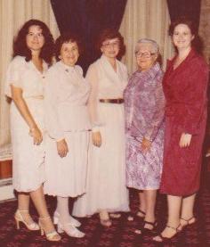 Grandmas. mom, sister and me