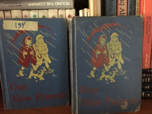 The one on the left was part of my Mom's class library. The one on the right was going to be thrown out! We saved it.