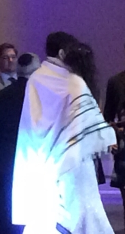 Wrapped in my Dad's tallit.
