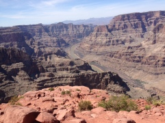 You can see the strata in the Grand Canyon.