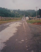 Photo #4: View of West Shore Road looking back toward our house from the Monument. (Dad's note)