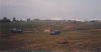 Photo #11: View from the Stage. Food tents and Red Cross Tents, on the ridge.